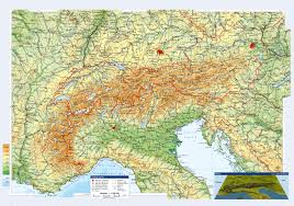 Topographical Map Of Usa by Large Topographical Map Of Austria And Neighboring Countries With