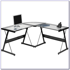 L Desk Staples Glass L Shaped Desk Deskblack Tempered Glass L Shaped Desk Brand