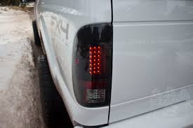 2016 f350 tail lights 2008 2016 super duty recon smoked led tail lights 264176bk