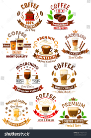 espresso coffee clipart coffee beverages icons cups espresso latte stock vector 447611713