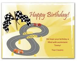 printable racecar birthday card template