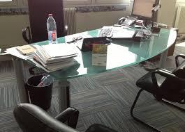 bureau de direction en verre bureau direction verre ofdrs reprise et vente de mobilier de