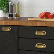 ikea kitchen cabinet colours eneryda cup cabinet pull brass color 3 1 2
