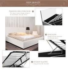 sabina king single gas lift storage bed frame white buy king