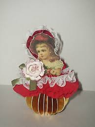my tiny bird u0027s song victorian christmas paper doll ornament in