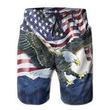 Mens Flag Shorts Mens Flag Of The United States Cool Summer Beach Shorts Swimming