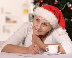 what to get an elderly woman for christmas elderly woman with gift stock image image of feelings 36700157