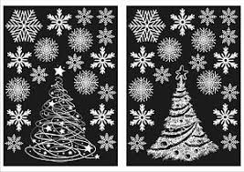 Christmas Window Decorations Sticky christmas decorations window stickers ebay
