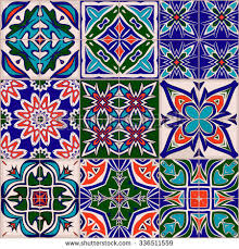 seamless patchwork pattern moroccan tiles ornaments stock vector