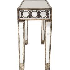 accent table ideas furniture antoinette circle pattern mirrored accent table for