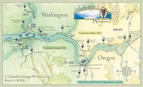 columbia gorge wine map lyle washington mappery