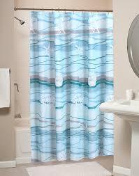 Nautical Curtain Fabric Decoration Navy Blue Nautical Curtains Fabric Bathroom Shower