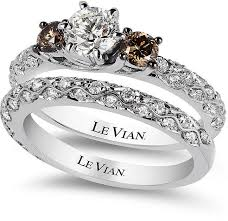 levian engagement rings le vian bridal white certified diamond and chocolate diamond