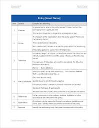 policy manual template free sample policies and procedures