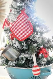 kitchen christmas tree ideas fascinating kitchen christmas tree refabbed of ornaments inspiration