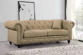 Linen Chesterfield Sofa Chesterfield Sofa Sand Linen Buy At Best Price Sohomod