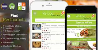 android finder codecanyon restaurant finder with backend android app