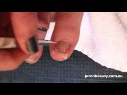 bio sculpture silk toe nail extension youtube