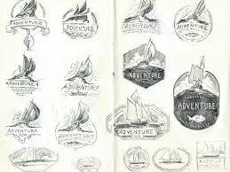 schooner adventure logo sketches by brian weaver dribbble