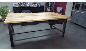 table de cuisine avec tiroir table de cuisine avec tiroir relaxdays table en bambou avec