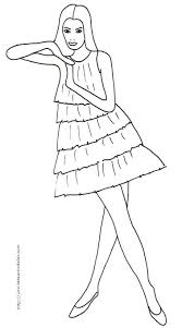 Top Model A Imprimer Witch Coloriage De Fille Top Model A Imprimer