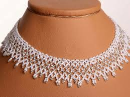 beads wedding necklace images Free pattern for beaded wedding necklace dia beads magic jpg