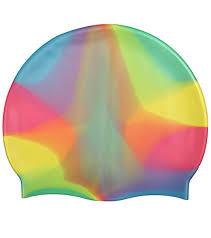 waterpro rainbow silicone swim cap at swimoutlet
