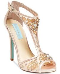 Wedding Shoes Macys Blue By Betsey Johnson Stela Front Tie Pumps Bridal Shoe Betsey