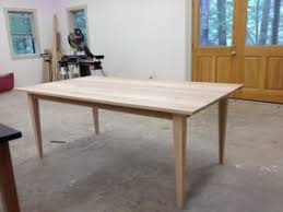 Oak Top Dining Table Wormy White Oak Top With Tapered Legs Osborne Wood