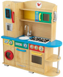 Pretend Kitchen Furniture by Wooden Play Kitchen Hape E8116 Gourmet Chef Kitchen And Cookware