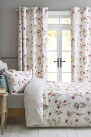 Duck Egg Blue Floral Curtains Bedroom Curtains Ready Made Curtains For Bedroom Next Uk