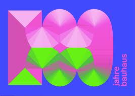 corporate design elemente riesige kagne zu 100 jahre bauhaus bauhaus brand identity