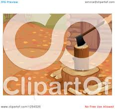 Design A Cabin by Clipart Of A Hand Chopping A Log Outside A Cabin On An Autumn Day