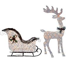 Discount Outdoor Lighted Christmas Decorations by Cheap Outdoor Sleigh Decoration Find Outdoor Sleigh Decoration