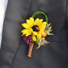 sunflower corsage 5 pieces lot simulate sunflower groom best boutonniere