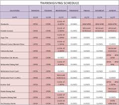 dining schedule for thanksgiving week nyudining nyu