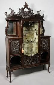 Antique Brass Display Cabinet Victorian Cabinets Foter
