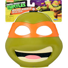 Michelangelo Ninja Turtle Halloween Costume Teenage Mutant Ninja Turtles Michelangelo Bandana Mask Walmart