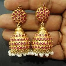 kerala style jhumka earrings online indian traditional pearl jhumka earrings ksvhs jewellery