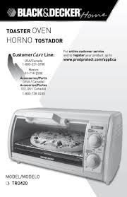 Black Decker Toaster Oven Replacement Parts Black And Decker Toaster Oven Tro420 User Manual