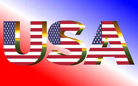 American Flag In Text Clipart Usa Flag Typography Sun Glare