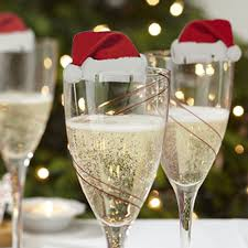 10pcs christmas holiday party decorations champagne wine glass
