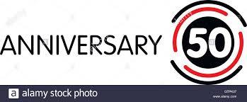 fiftieth anniversary anniversary vector label fiftieth anniversary symbol 50