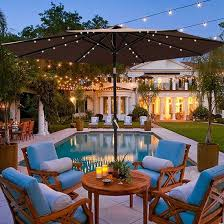 Patio Umbrella Led Lights by Best 25 Patio Umbrellas On Sale Ideas On Pinterest Deck Canopy