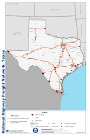 Texas Cities Map National Highway Freight Network Map And Tables For Texas Fhwa