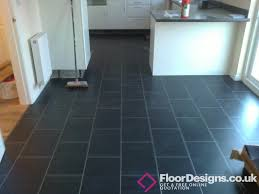 chic slate vinyl flooring kitchen combining amtico and karndean