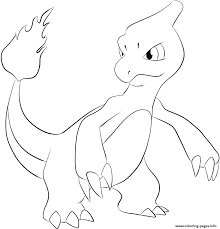 print 005 charmeleon pokemon coloring pages pokemon pinterest