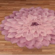 Round Bathroom Rugs Adilyn Mum Flower Shaped Round Rugs