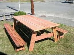 Free Picnic Table Plans 8 Foot by Woodworking 8 Foot Picnic Table With Detached Benches Plans Pdf