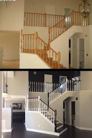 Painting A Banister White What Paint Can Do I Oak Colored Anything I Love The Design